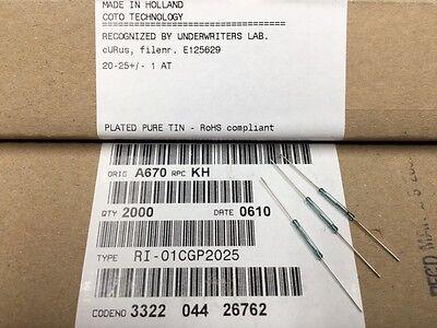 10 Pcs Ri-01cgp2025 Coto Spst No Magnetic Dry Reed Switch