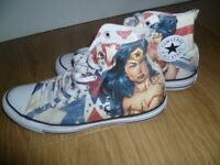 Converse Wonder Woman Hi-Tops, in excellent condition, size 7