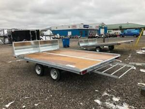 Snowmobile Trailers in Cochrane, many to choose from.