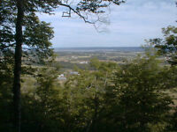 A majestic view of the Annapolis Valley and the Minas Basin