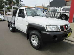 2011 Nissan Patrol GU 6 MY10 DX White 5 Speed Manual 2D CAB CHASSIS Croydon Burwood Area Preview