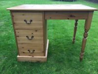 Handmade new pine desk with 3 drawers