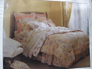 Drapery set (with coordinating bedding)