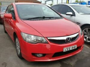 2009 Honda Civic MY09 VTi Red 5 Speed Automatic Sedan