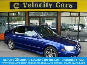 2000 Subaru Legacy B4 RSK 48K's AWD Twin-Turbo 265hp Half-Leathe