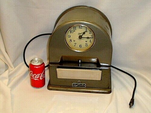 VINTAGE SIMPLEX TIME CLOCK RECORDER