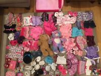 Build a Bear, 2 x bears, bed, big collection of clothes, shoes, accessories inc. mp3 player + bags
