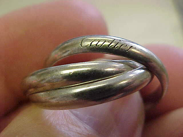 Cartier 18k White Gold  Trinity Rolling  Ring Size 9 Or 59 Unisex   Make Offer