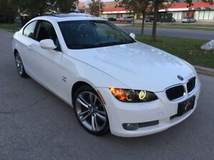 2010 BMW 335i 6SPD XDRIVE COUPE WHT BLK LEATHER LIKE NEW