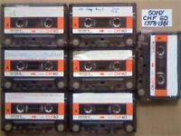 JL CHF#7 BARGAIN BIN = 7 SONY CHF 60 1978-1981 CASSETTE TAPES £7 & FREE P&P W/ CARDS CASES LABELS