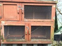 Two storey rabbit/guinea pig hutch
