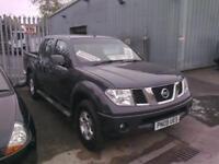 no vat,,,2009 09 reg Nissan navara 4x4 double cab pick up 2.5dci..