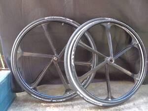 Wheelchair Wheels w/ Smooth Bearings, Schwalbe Tyres, tubes Hawthorn Boroondara Area Preview