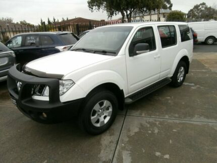 2010 Nissan Pathfinder R51 MY10 ST-L White 5 Speed Auto Seq Sportshift Wagon Hillcrest Port Adelaide Area Preview