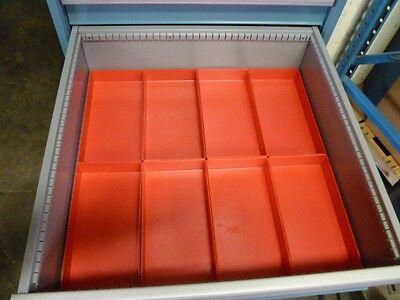 "8  6"" x 12"" x 2""  Plastic Boxes fit Lista Vidmar Toolbox Organizers Dividers"