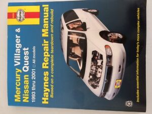 Mercury Villager and Nissan Quest (93-01) Haynes Manual