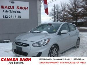 2012 Hyundai Accent 6SP/AC/CRUISE/PWR, 12M.WRTY+SAFETY $6290