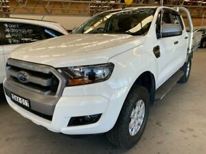 2015 Ford Ranger PX MkII XLS Double Cab White 6 Speed Sports Automatic Utility Cardiff Lake Macquarie Area Preview