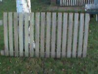 Three fence panels