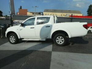 2012 Mitsubishi Triton MN MY13 GLX Utility Double Cab 4dr Man 5sp 4x4 981kg 2.5DT White Manual Croydon Burwood Area Preview