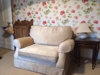 Sofa Bed. Nearly New Laura Ashley Single Snuggler Padstow Range. Champagne Colour.