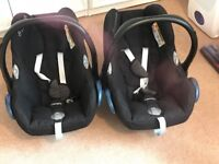 Maxi Cosy Baby Car Seats for Sale (used for twins)