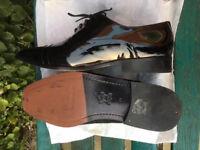 Black Patent Mens Leather Shoes Size 11
