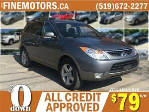 2012 HYUNDAI VERACRUZ GLS * AWD * LEATHER * 7 PASS * POWER ROOF