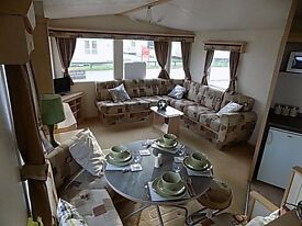STUNNING 12 MONTH PARK - STATIC CARAVAN FOR SALE - 8 BERTH - FEES INCLUDED - YORKSHIRE COAST!!
