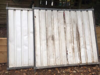 3 x solid Fence Panels