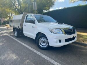 2014 Toyota Hilux KUN16R MY14 SR 4x2 White 5 Speed Manual Cab Chassis Hawthorn Mitcham Area Preview