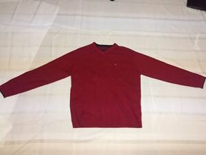 Red Tommy Hilfiger classic sweater