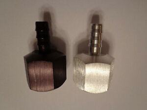 1- NATURAL  Fitting For  Fuel Line 10an female threads to 3/8 Barb