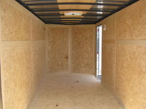 """ENCLOSED 6 x 14 + 18"""" VNOSE UTILITY TRAILER WITH REAR RAMP"""