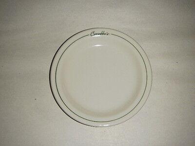 Carrabbas Resturant 5 50  Plate Green Trim Made By Niagara China 2003 Porcelain