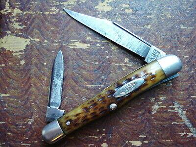 Vintage Case Tested XX Green Bone Half Whittler 1920 - 1940