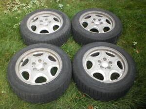 """Set de 4 jantes Audi A4 16"""" + pneus Michelin X-ICE 205/60R16"""