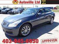 2008 Infiniti G35X leather roof auto $11988 everyone approved