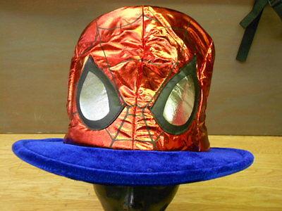 Marvel The Avengers Rot Glänzend Lame Spider-Man Maske Hutmacher Kostüm - Spiderman Kostüm Machen