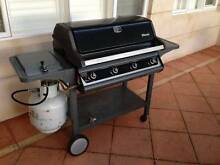 Rinnai 4 burner BBQ with cover and trolley, 2 gas bottles City Beach Cambridge Area Preview
