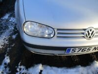 VOLKSWAGON GOLD 1.6 MK4 1997 SILVER 5DR OFFSIDE HEADLIGHT COMPLETE WITH BULB HOLDER