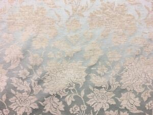 QUALITY FLORAL DUCK EGG BLUE GREEN DAMASK UPHOLSTERY CURTAIN FABRIC MATERIAL !