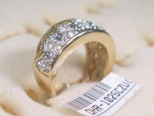 5 ..... Each  RINGS DESIGNER SIMULATED DIAMOND CUBIC ZIRCONIUM  LOT 1025UP