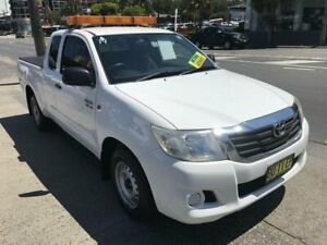 2012 Toyota Hilux GGN15R MY12 SR White 5 Speed Automatic X Cab Pickup Rockdale Rockdale Area Preview