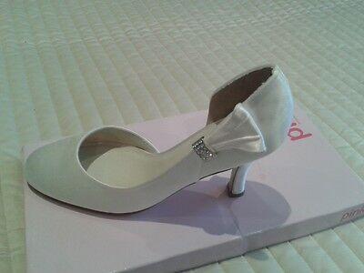 Ivory satin (wedding) shoes Size 38 + box