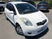 2008 Toyota Yaris NCP90R YR White 4 Speed Automatic Hatchback Southport Gold Coast City Preview