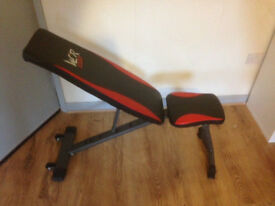 Weight Bench Flat Incline Decline Adjustable Bench Dumbbell Weight Lifting Bench - unboxed, unused.