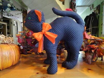 Primitive~Handmade~Decorative Halloween Scared Arching Black Cat,Shelf Sitter](Scared Cat Halloween)