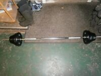 Barbell with weights 37.5kg