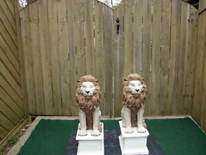 Pair of Outdoor Lion statues